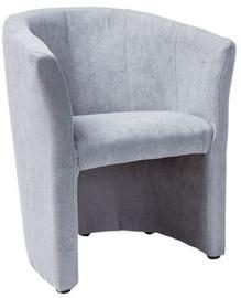 Atzveltnes krēsls Signal Meble TM-1 Light Grey, 67x46x76 cm
