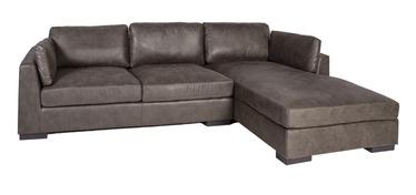 Stūra dīvāns Home4you Malena Brown, labais, 310 x 175 x 81 cm