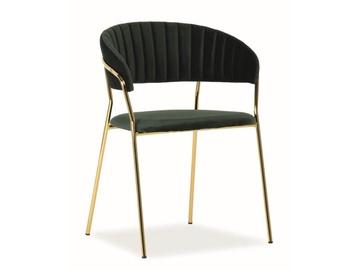 Ēdamistabas krēsls Signal Meble Lira Velvet Green/Gold