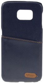Roar Noble Skin Leather Cover For Samsung Galaxy Grand Prime Dark Blue