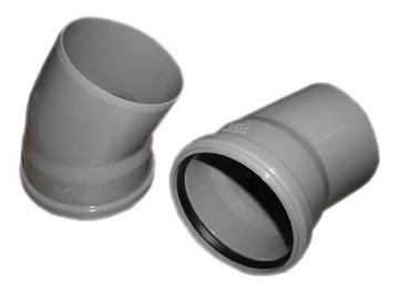 Kanalizācijas caurules 22° līkums Wavin D110mm, PVC