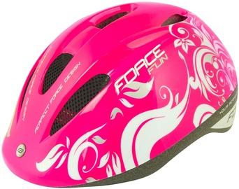 Шлем Force Fun Flowers, белый/розовый, S, 480 - 540 мм