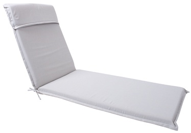 Home4you Florida Deck Chair Pad 60x200x7cm Light Grey