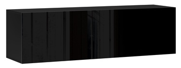 Vivaldi Meble Vivo 03 Wall Shelf With LED Black/Black Gloss