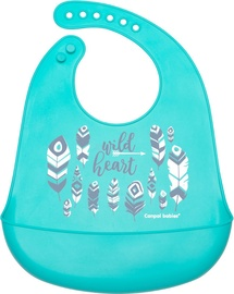 Canpol Babies Silicone Bib With Pocket Wild Nature Blue 74/023