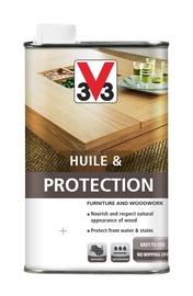 V33 Protection Wood Furniture Oil Black 0.5l