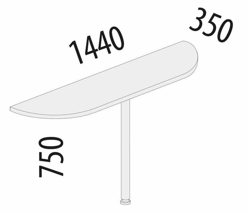 DaVita Alfa 63.30 Table Extension Koburg Oak