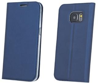 Blun Premium Smart Magnetic Fix Book Case For Huawei P9 Lite 2017 Dark Blue