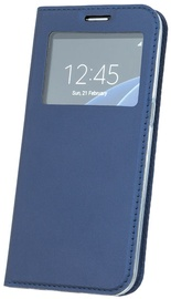 Blun Premium Matt Eco-leather Smart S-View Book Case For Apple iPhone X Dark Blue