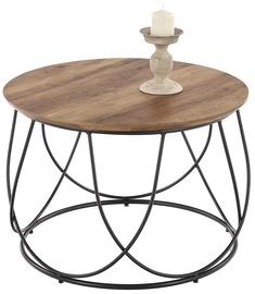 Kafijas galdiņš Halmar Nubira Black/Walnut, 600x600x410 mm