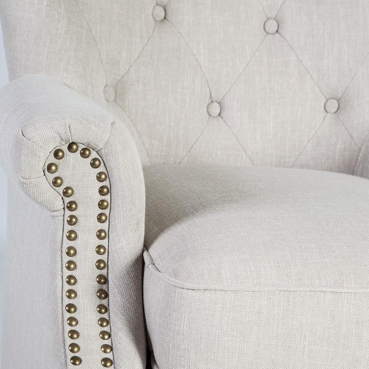 Atzveltnes krēsls Home4you Holmes Beige, 78x80x86 cm