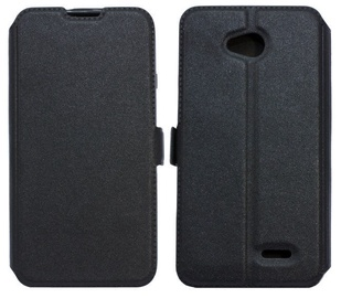 Telone Shine Book Case For LG K7 X210 Black