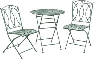 Āra mēbeļu komplekts Home4you Mint K40052, zaļa, 2 sēdvietas