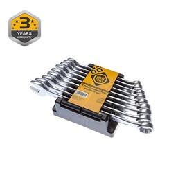 Forte Tools Spanner Set 10-18mm 9pcs