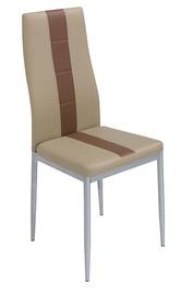 Ēdamistabas krēsls Black Red White Anna Cappucino, 1 gab.
