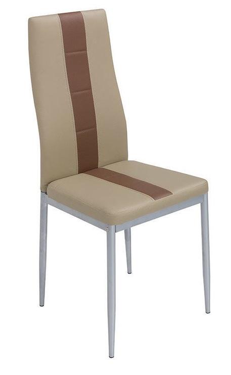 Ēdamistabas krēsls Black Red White Anna, brūna/smilškrāsas