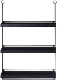 4Living Loft Wall Shelve 58x84x18cm Black