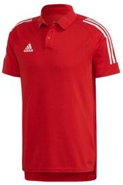 Adidas Mens Condivo 20 Polo Shirt ED9235 Red M