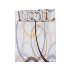 Domoletti Bath Curtain With Hooks POD-001 180x180cm