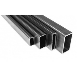 Aluminium Rectangular Pipes Gray 25x15mm 2m