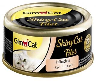 Влажный корм для кошек (консервы) Gimborn ShinyCat Chicken 70g