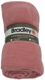 Bradley Plaid Fleece 180x200cm Rose