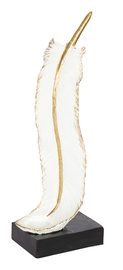 Home4you In Home Feather Candle Holder White/Gold