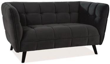 Dīvāns Signal Meble Castello 2 Black, 145 x 85 x 78 cm
