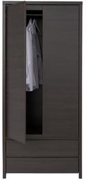 Skapis Black Red White Kaspian Wenge, 90x55.5x200.5 cm