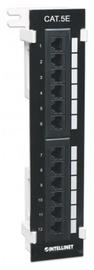 Komutācijas panelis Intellinet Patch Panel UTP CAT 5e RJ45 x 12 Black