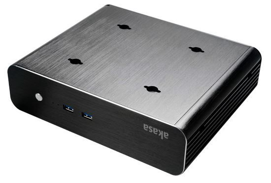 Akasa Euler S Fanless Thin-Mini-ITX Case Black