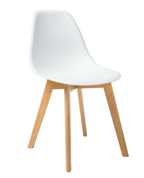 Ēdamistabas krēsls Signal Meble Moris White, 1 gab.