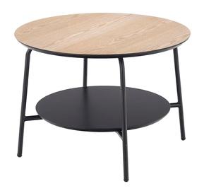 Kafijas galdiņš Halmar Genua Law3, brūna/melna, 600x600x430 mm