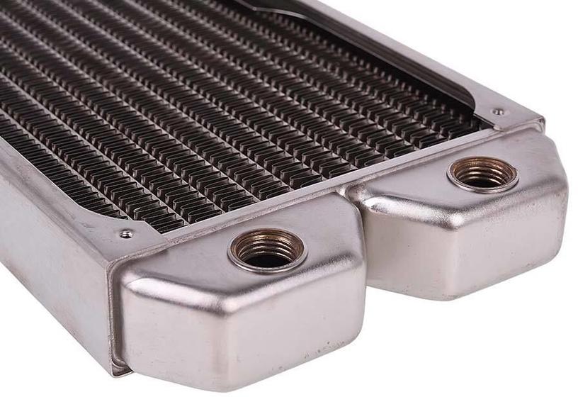 Alphacool NexXxoS ST30 Full Copper 240mm Radiator Silver Nickel