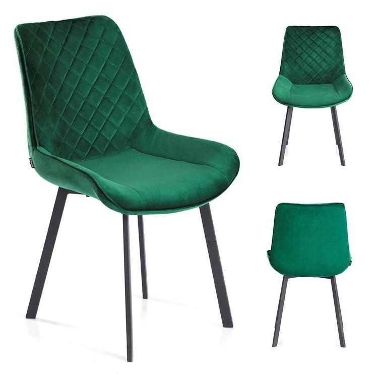 Ēdamistabas krēsls Homede Kemble Bottle Green, 4 gab.