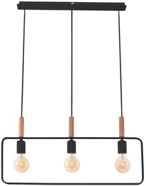Candellux Frame Hanging Ceiling Lamp 3x60W E27 Black
