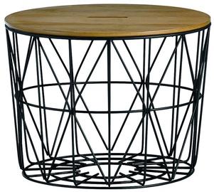 Kafijas galdiņš Home4you Helena Black/Brown, 600x600x400 mm