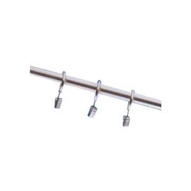 Кольцо Profi-Styl Curtain Rod Ring With Clip D16/19 Nickel