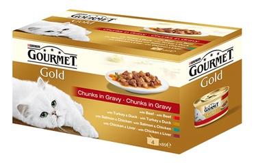 Влажный корм для кошек (консервы) Purina Gourmet Gold 340g 4pcs