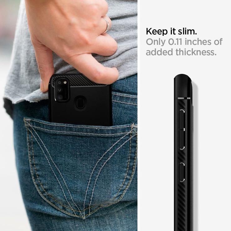 Spigen Rugged Armor Back Case For Samsung Galaxy M21 Black