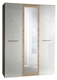 Skapis ASM Big Sonoma Oak/White, 135x55x190 cm, with mirror