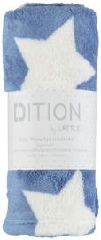 Одеяло Little Blanket, 100 см x 75 см, синий/белый