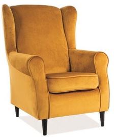 Atzveltnes krēsls Signal Meble Baron Yellow/Wenge, 75x80x101 cm