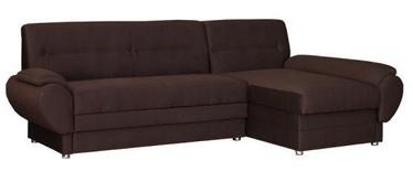 Stūra dīvāns Bodzio Livonia Fabric Brown, 248 x 155 x 89 cm
