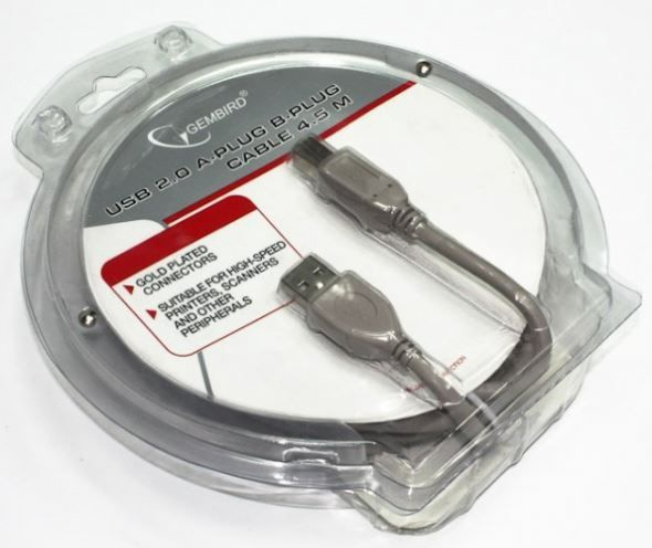 Gembird Cable USB to USB Grey 3m