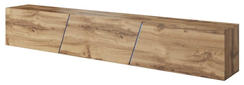 ТВ стол Vivaldi Meble Slant 240, дубовый, 2400x400x350 мм