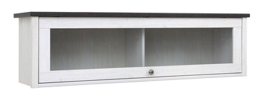 Black Red White Porto Glass Door Cabinet White