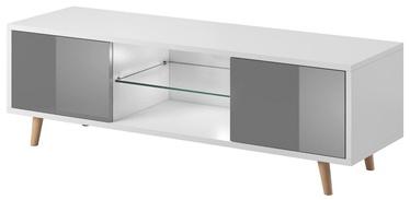 ТВ стол Vivaldi Meble Sweden 1, белый/серый, 1400x420x450 мм