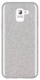 Wozinsky Glitter Shining Back Case For Samsung Galaxy J6 Silver