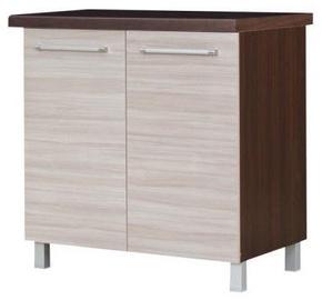 Apakšējais virtuves skapītis Bodzio Loara 80D Latte/Nut, 800x520x860 mm